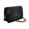 OLA Black Stingray and Lizard Cross Body Clutch Bag by LAYKH