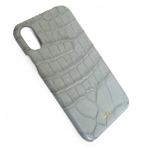 GREY CROCODILE PHONE COVER