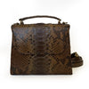 Sue Small Structured Laykh Tote Messenger Bag (Brown Multi Matte Python Leather) Hong Kong