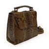 Sue Small Structured Laykh Tote Messenger Bag (Brown Multi Matte Python Leather) Hong Kong ~ 3