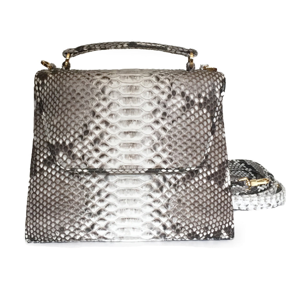 SUE (Mini) Natural Python Tote and Cross Body Bag by LAYKH
