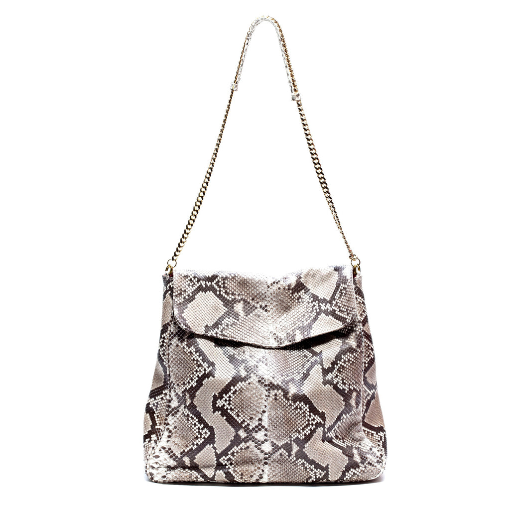 SUJ Natural Python Hobo Shoulder Bag by LAYKH
