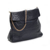 SUJ Navy Ostrich Shoulder Bag by LAYKH