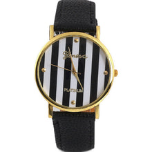 Striped Quartz Ladies Classic Watch