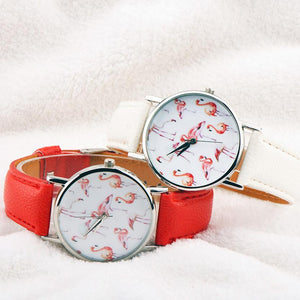 Ladies Fashion Quartz Wristwatch with Leather Band