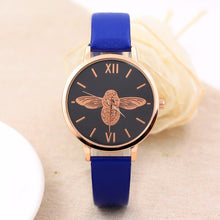 Elegant Ladies Watch with Round Dial and Faux Strap