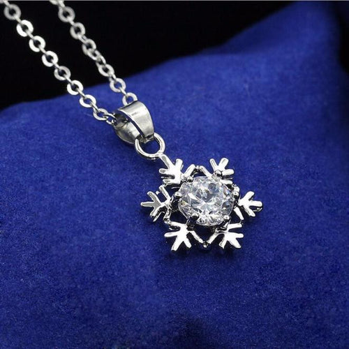 Diamond Snowflake Pendant Necklace