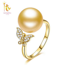 Natural South Sea Pearl Ring in 18k yellow gold