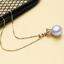 18K Yellow Gold Crown Pearl Pendant