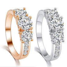 Luxury 18K Gold/Platinum Plated Cubic Zircon Engagement Ring