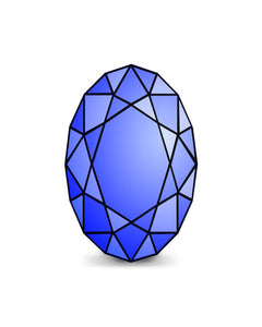 Created Sapphire Oval