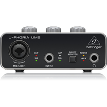 Load image into Gallery viewer, Behringer UM2 Audio Interface and Zoom ZDM-1 Podcast Mic Bundle