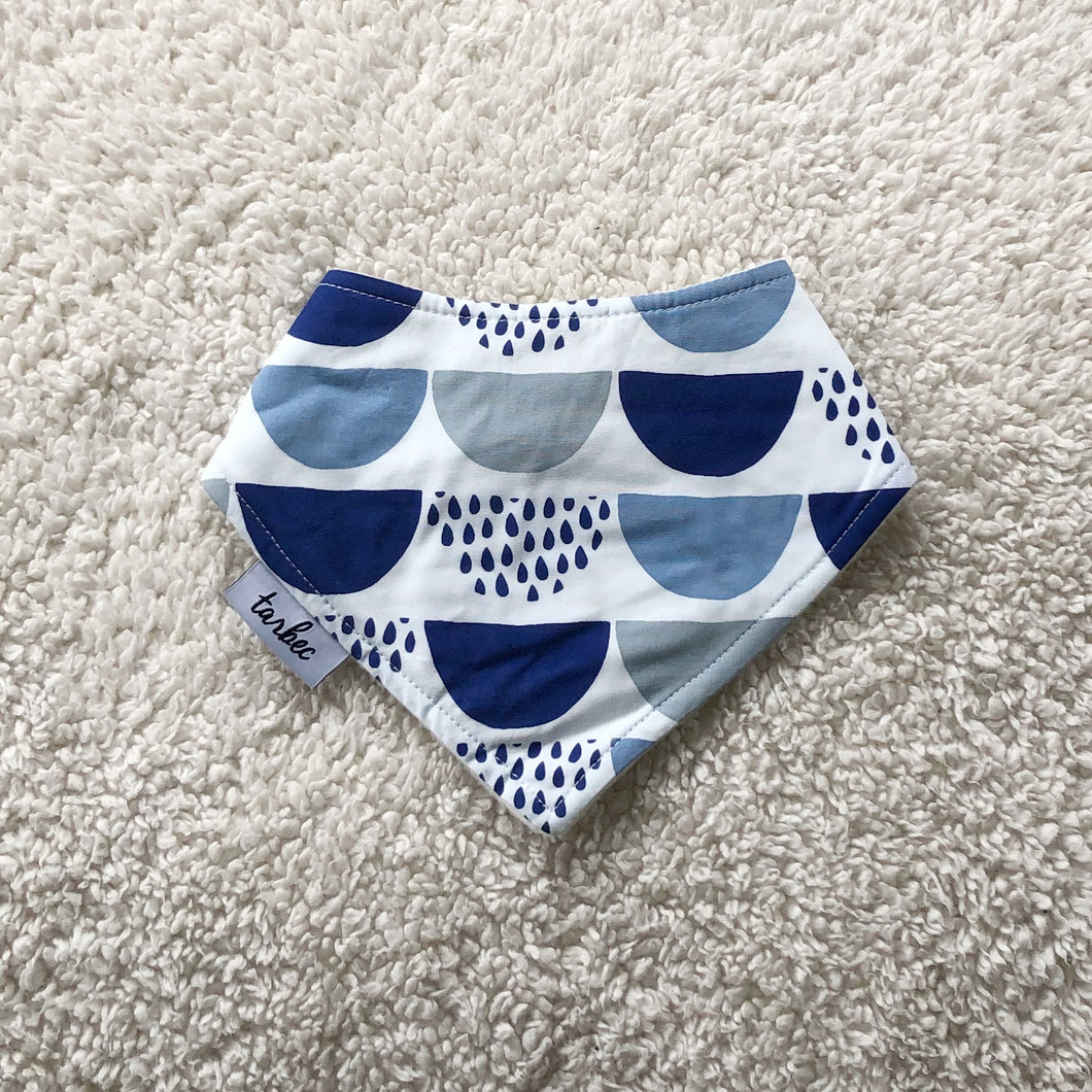Blue Scales Dribble Bib