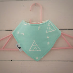 Blue Tee Pee Dribble Bib