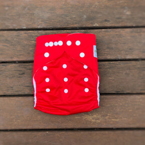 Modern Cloth Nappy - Red