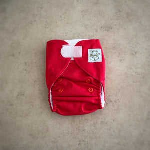 Newborn Pocket Nappy - Red