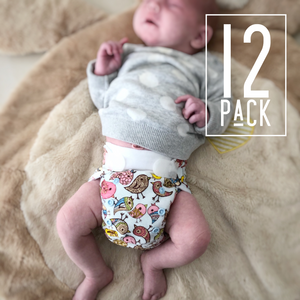 Newborn Nappies - 12 Pack