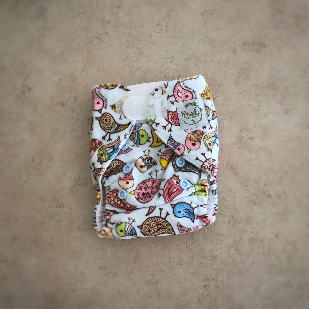 Newborn Pocket Nappy - Little Birdie