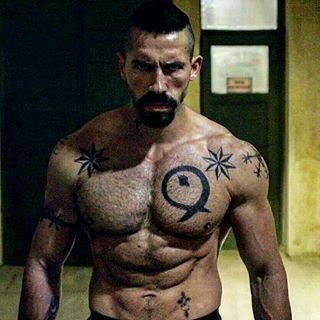 Scott Adkins posing as Yuri Boyka in a screen grab from the film Undisputed