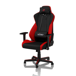 NITRO CONCEPTS S300 Gaming Chair - Office Chair - Ergonomic - Cloth Cover - Up to 300 lbs Users - 90° to 135° Reclinable - Adjustable Height & Armrests