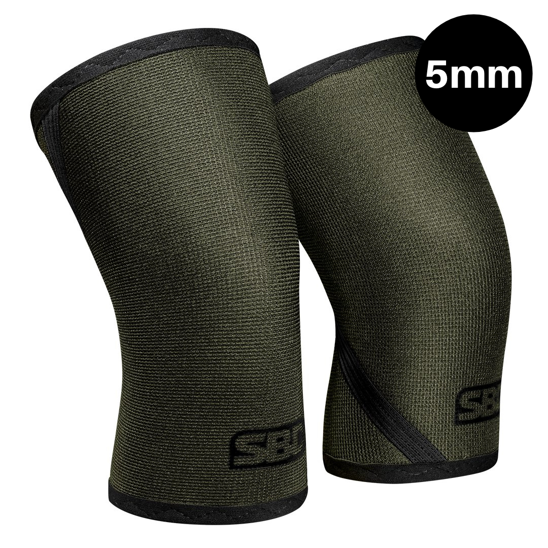 Weightlifting Knee Sleeves - Green w/Black - Endure Range