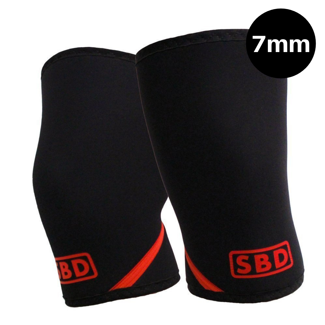 Knee Sleeves - Black & Red
