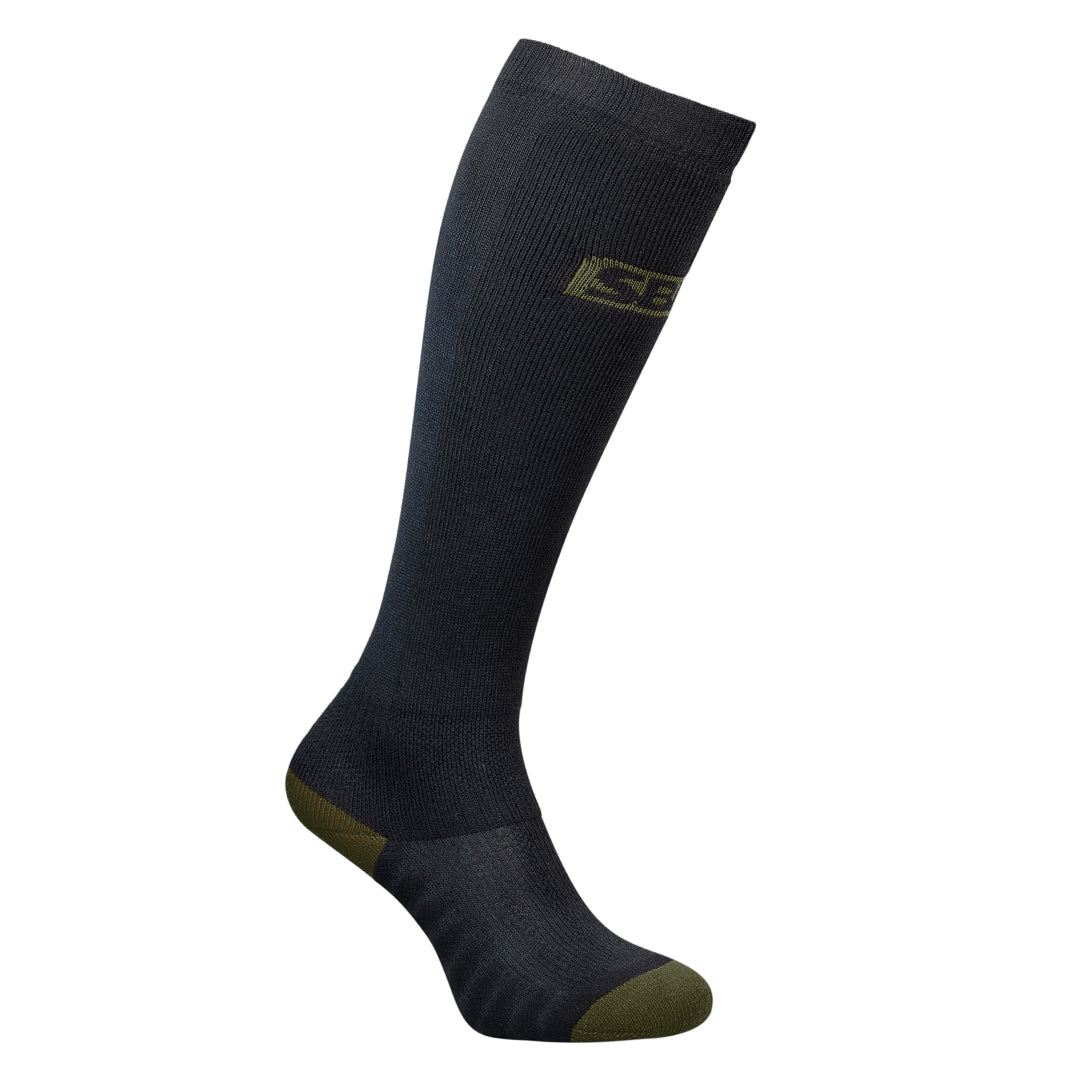 Deadlift Socks - Black w/Green - Endure Range