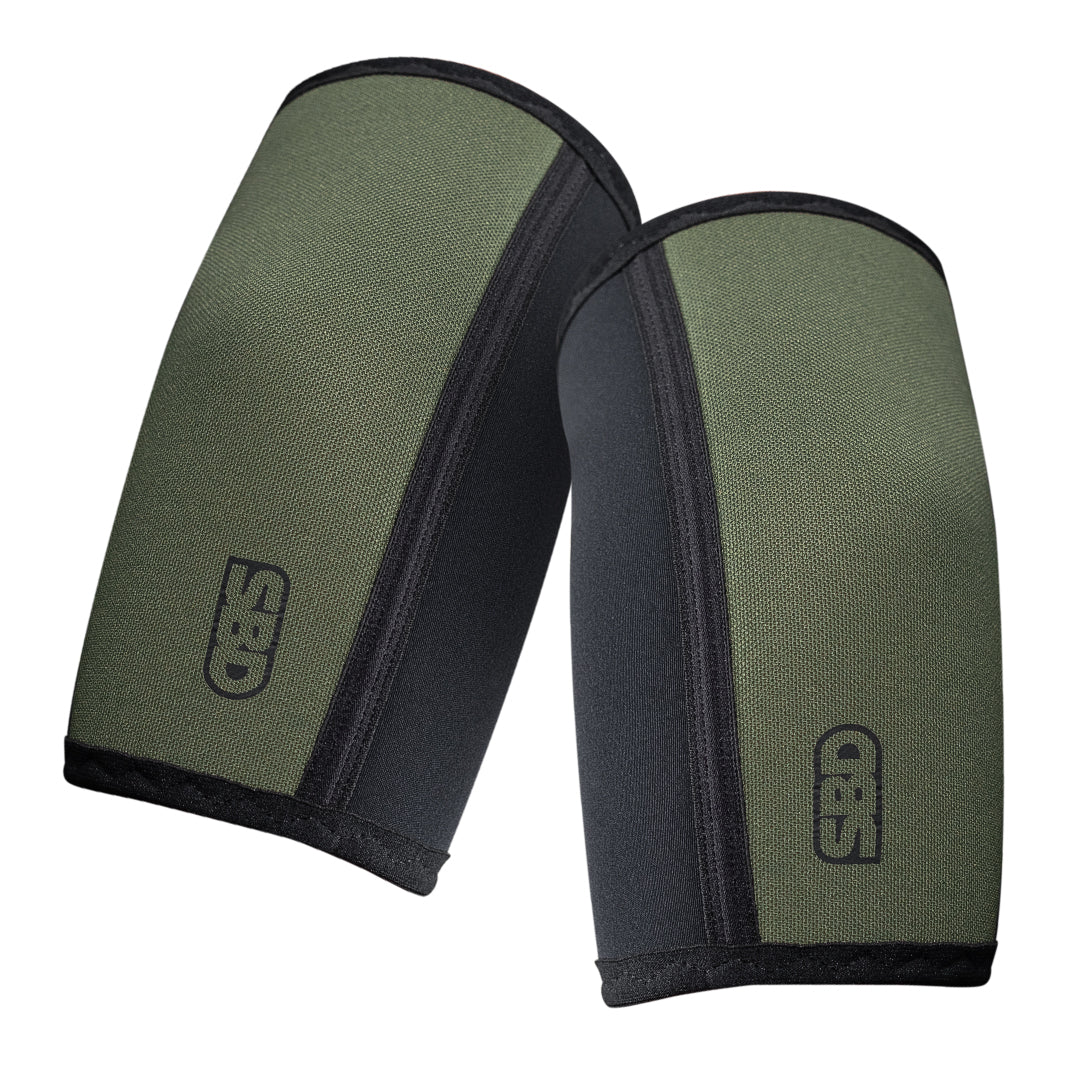 Elbow Sleeves - Black w/Green -  Endure Range
