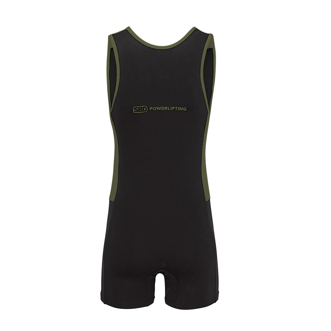 Powerlifting Singlet Men's Fit - Black w/Green - Endure Range