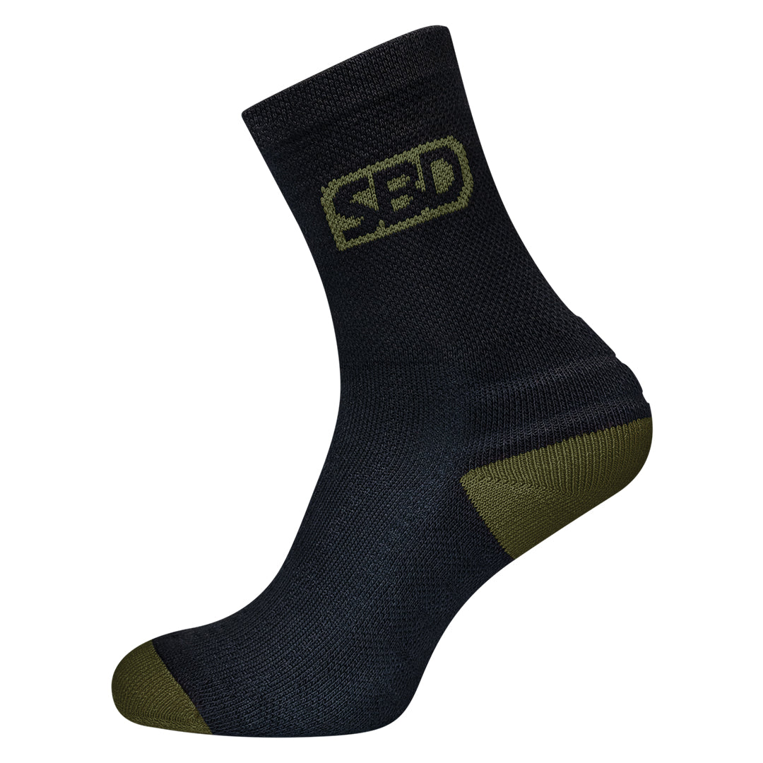 Sport Socks - Black w/Green - Endure Range