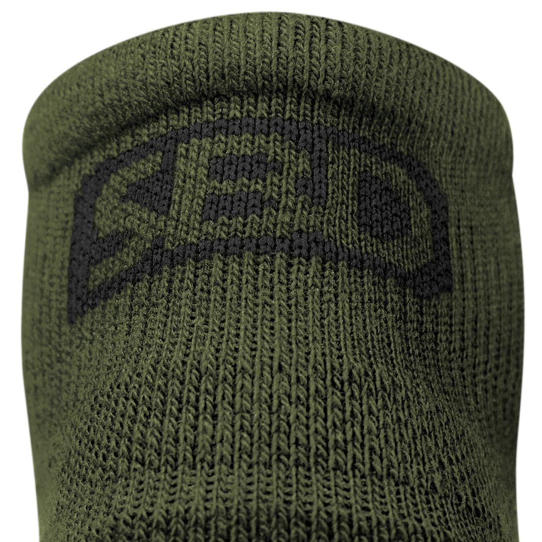 Trainer Socks - Green w/Black - Endure Range
