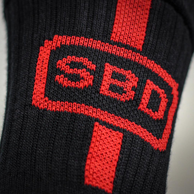 Sport Socks - Black & Red