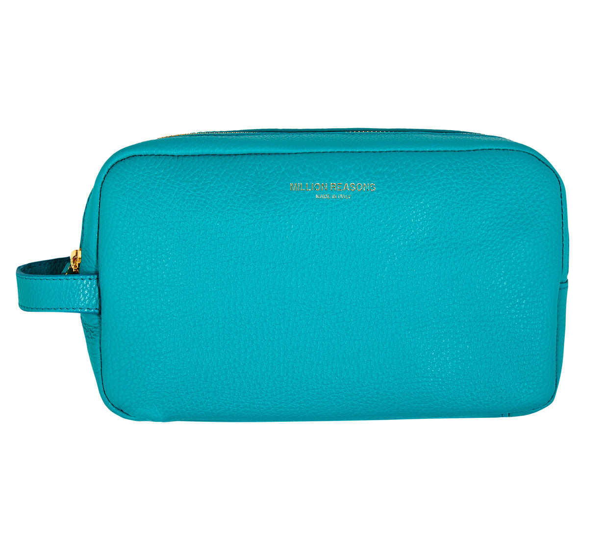 Leather Wash Bag-Turquoise