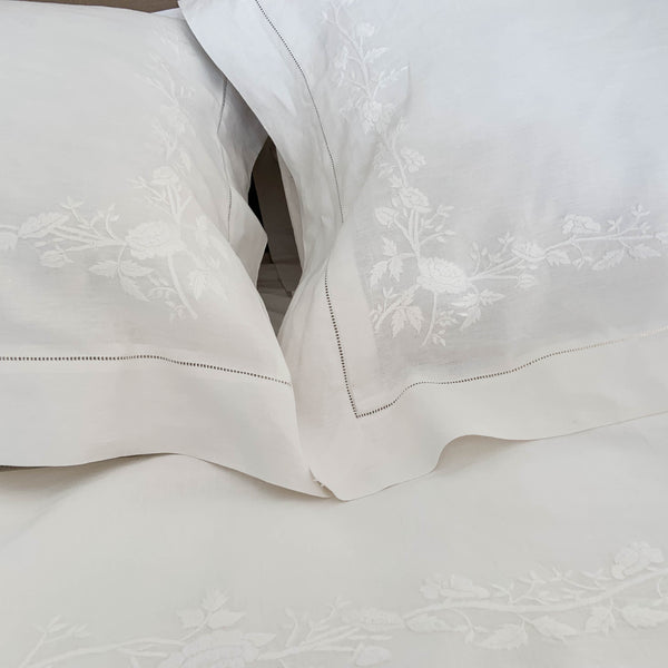 Tuscan Rose Linen Sheets - QUEEN SET