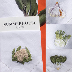 LE JARDIN  - EMBROIDERED LINEN NAPKINS SET