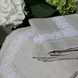 FRENCH COUNTRY LINEN TOP SHEET SET - NATURAL