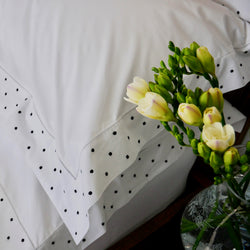 DOTS TOP SHEET SET (Midnight)- Queen