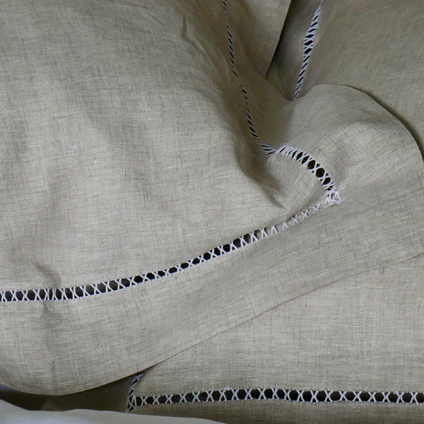 LADDER CROSS  -  NATURAL LINEN - DUVET SET