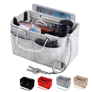 Ztujo Multi-Pocket Felt Handbag Organizer with Handles