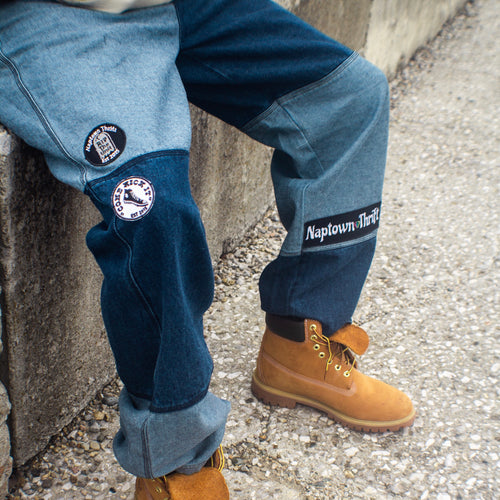 Naptown Thrift Homage Series Color Block Jeans