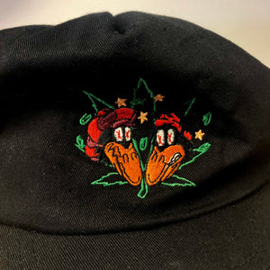 90s The Black Crowes Back Spellout Snapback Hat