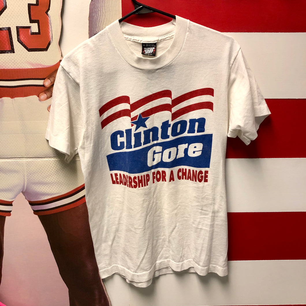 1992 Clinton Gore 'Leadership For A Change' Campaign Shirt
