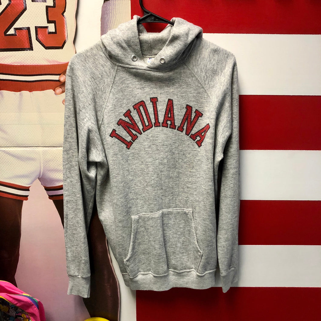 80s Indiana University Arch Spellout Champion Hoodie