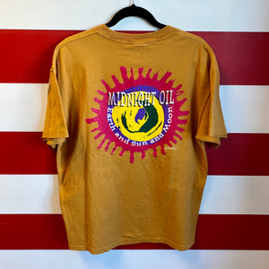 1993 Midnight Oil 'Earth and Sun and Moon' Brockum Licensed All Over Print Promo Shirt