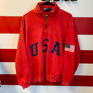 80s Polo Ralph Lauren USA 1/4 Zip Sweatshirt