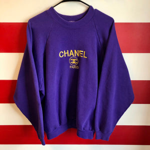 90s Chanel Paris Style Sweatshirt
