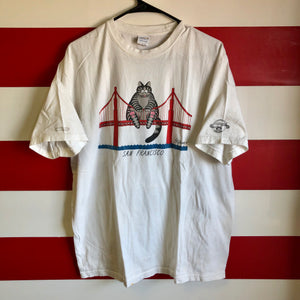 Early 2000s San Francisco Bridge Cat Crazy Shirts Brand Shirt