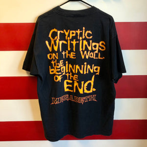 1997 Megadeth 'Cryptic Writings: The Beginning of the End' by Chaos Comics Shirt