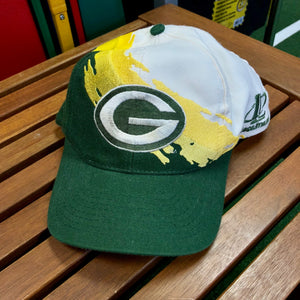 90s Green Bay Packers Logo Athletic Splash Snapback 558c31a1dd7