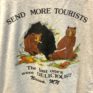 1988 Nisswa Minnesota 'Send More Tourists' Shirt